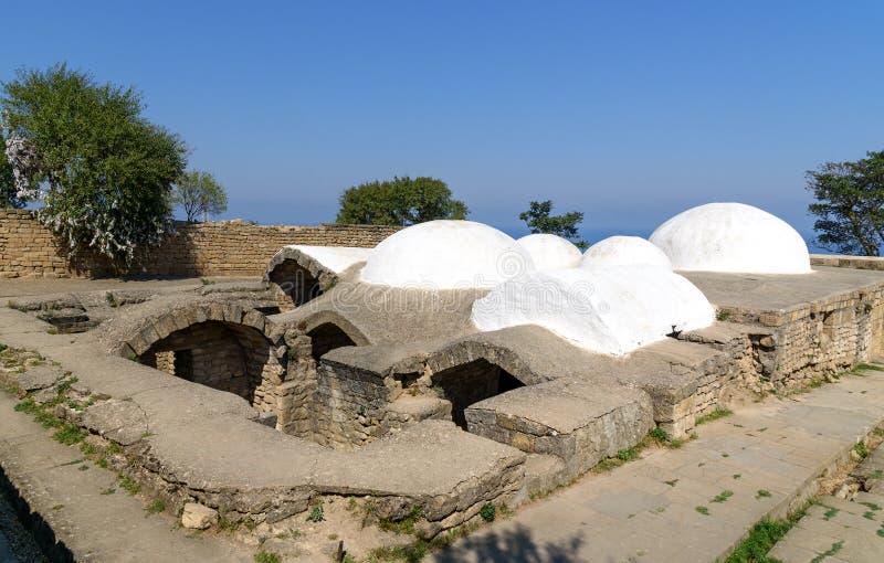 Λουτρό Khan ` s στο φρούριο naryn-Kala Derbent στοκ εικόνες