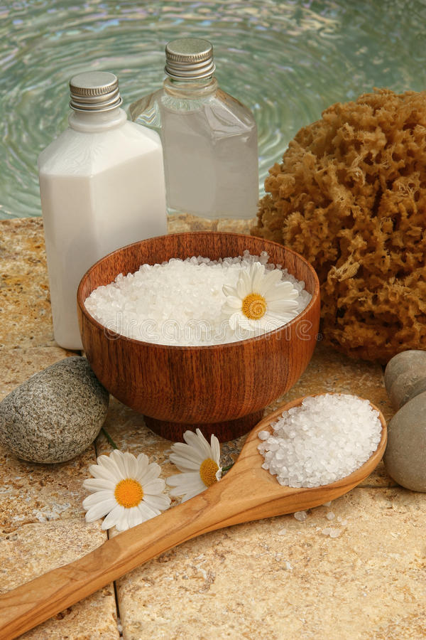 λουτρό life products salts spa ακόμα στοκ εικόνες