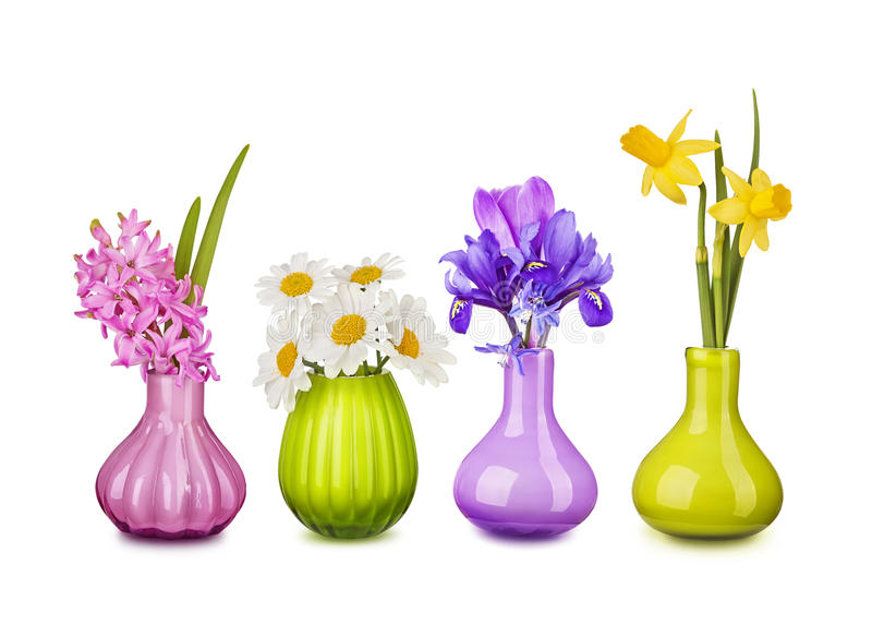 Λουλούδια άνοιξη vases στοκ εικόνες