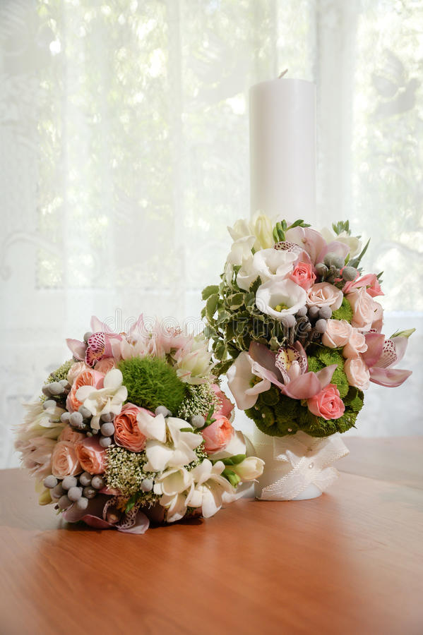 Λουλούδια γαμήλιας τελετής στοκ εικόνες
