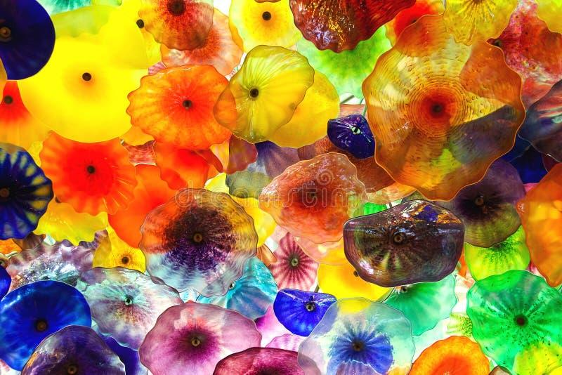 Λουλούδια γυαλιού στο ανώτατο όριο στο ξενοδοχείο του Μπελάτζιο στο Λας Βέγκας στοκ φωτογραφία με δικαίωμα ελεύθερης χρήσης