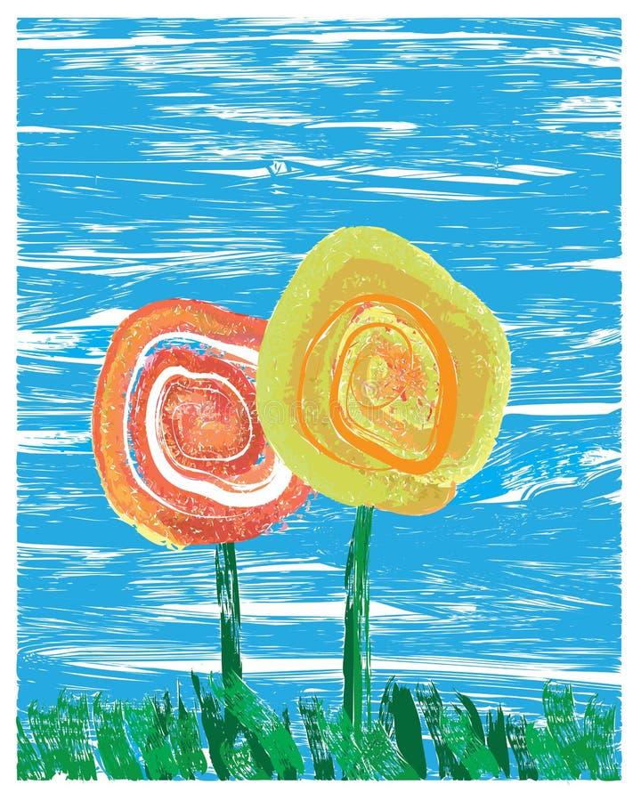 Λουλούδια ιμπρεσσιονιστών ελεύθερη απεικόνιση δικαιώματος