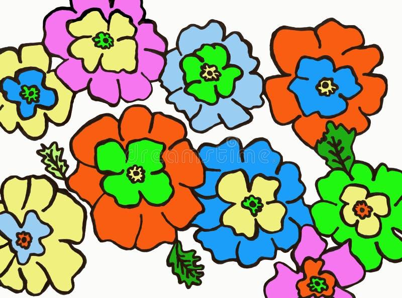 Λουλούδια που χρωματίζονται του ελατηρίου στοκ φωτογραφία με δικαίωμα ελεύθερης χρήσης