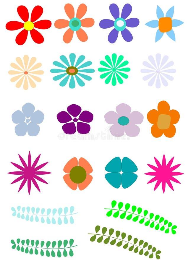 Λουλούδι αναδρομικό ελεύθερη απεικόνιση δικαιώματος