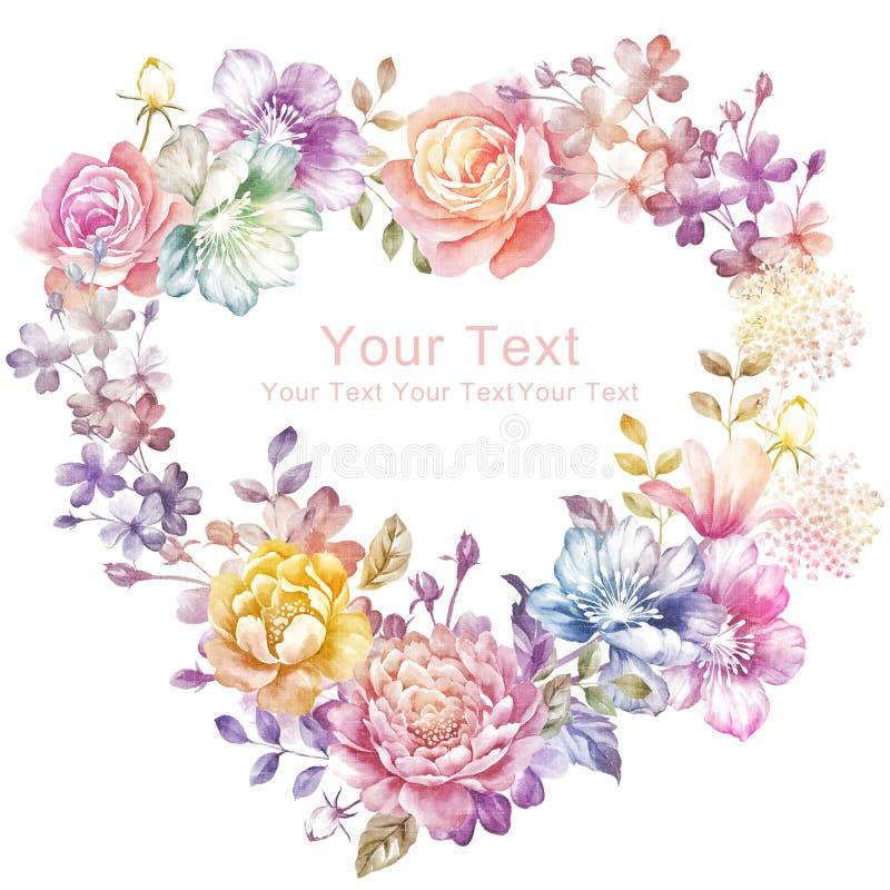 Λουλούδι απεικόνισης Watercolor στο απλό υπόβαθρο διανυσματική απεικόνιση
