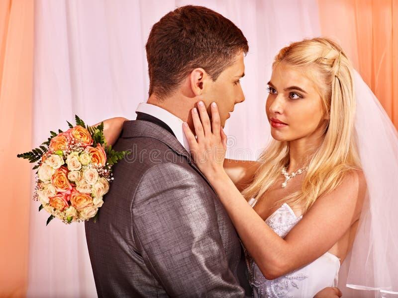 Λουλούδι εκμετάλλευσης γαμήλιων ζευγών στοκ εικόνες
