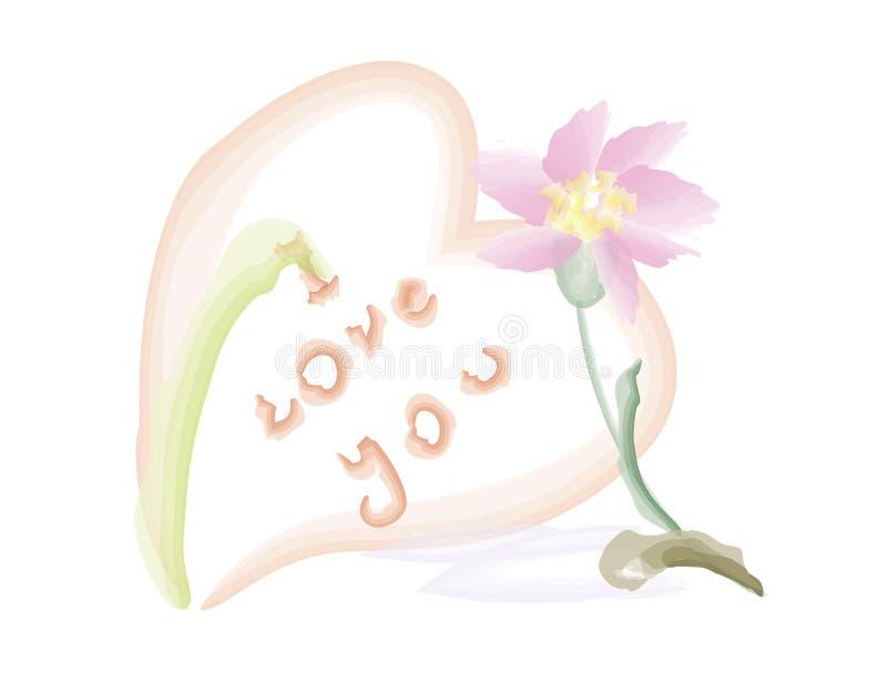 Λουλούδι και καρδιά στοκ φωτογραφίες