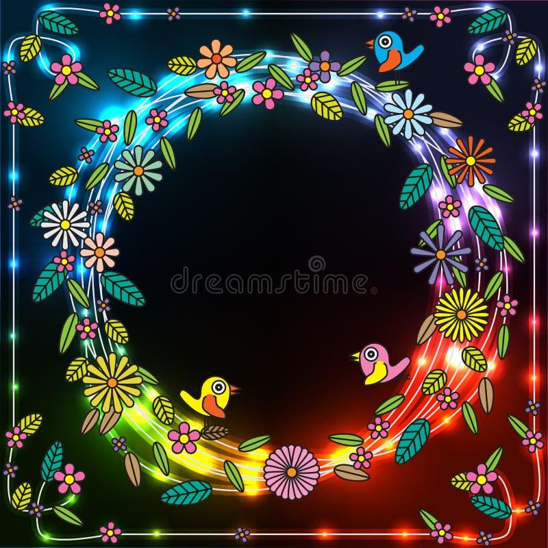 Λουλούδι κύκλων ελεύθερη απεικόνιση δικαιώματος