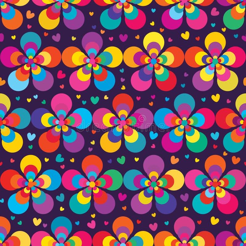Λουλούδι πέντε σύγχρονο ζωηρόχρωμο άνευ ραφής σχέδιο διανυσματική απεικόνιση