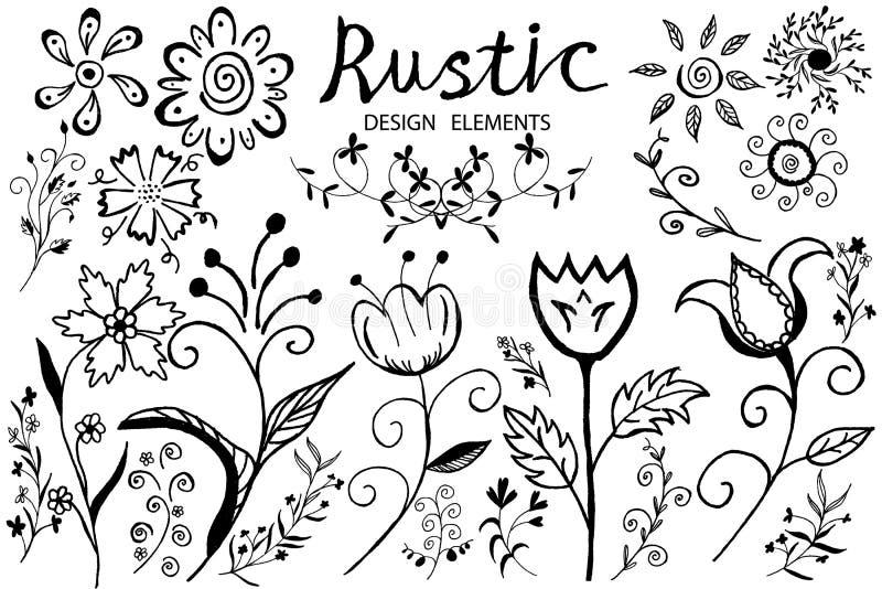 Λουλούδι Doodle απεικόνιση αποθεμάτων