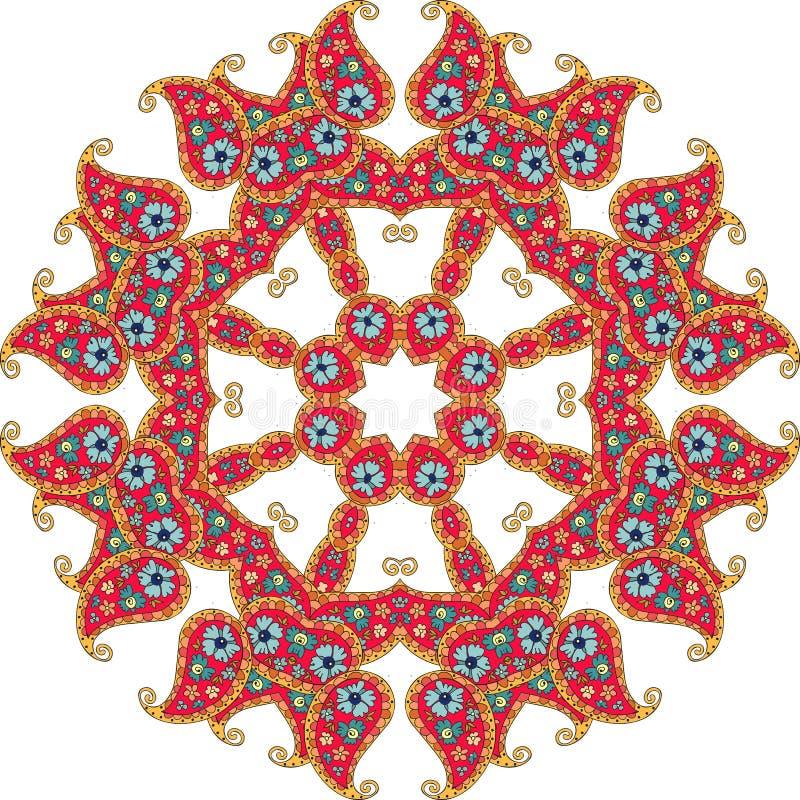 Λουλούδι Mandala επίσης corel σύρετε το διάνυσμα απεικόνισης ελεύθερη απεικόνιση δικαιώματος