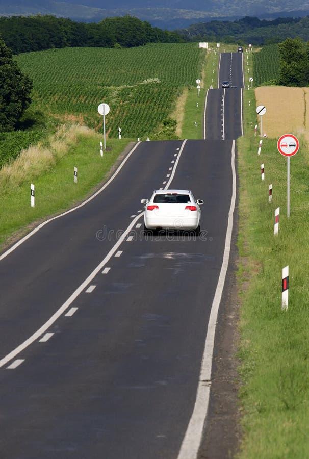 λοφώδης δρόμος στοκ εικόνα