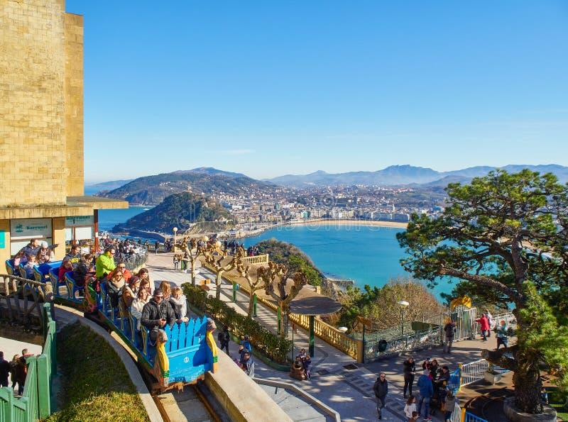 Λούνα Παρκ του Μόντε Ιγκουέλντο Σαν Σεμπάστιαν, Χώρα των Βάσκων Ισπανία στοκ φωτογραφία