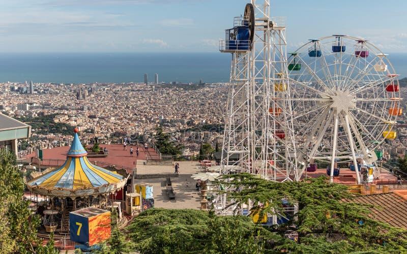 Λούνα παρκ Tibidabo στη Βαρκελώνη στοκ εικόνες με δικαίωμα ελεύθερης χρήσης