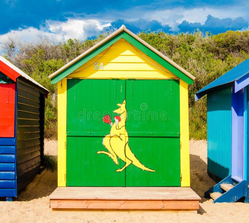 Λούσιμο των κιβωτίων στην παραλία του Μπράιτον, Αυστραλία στοκ φωτογραφία με δικαίωμα ελεύθερης χρήσης