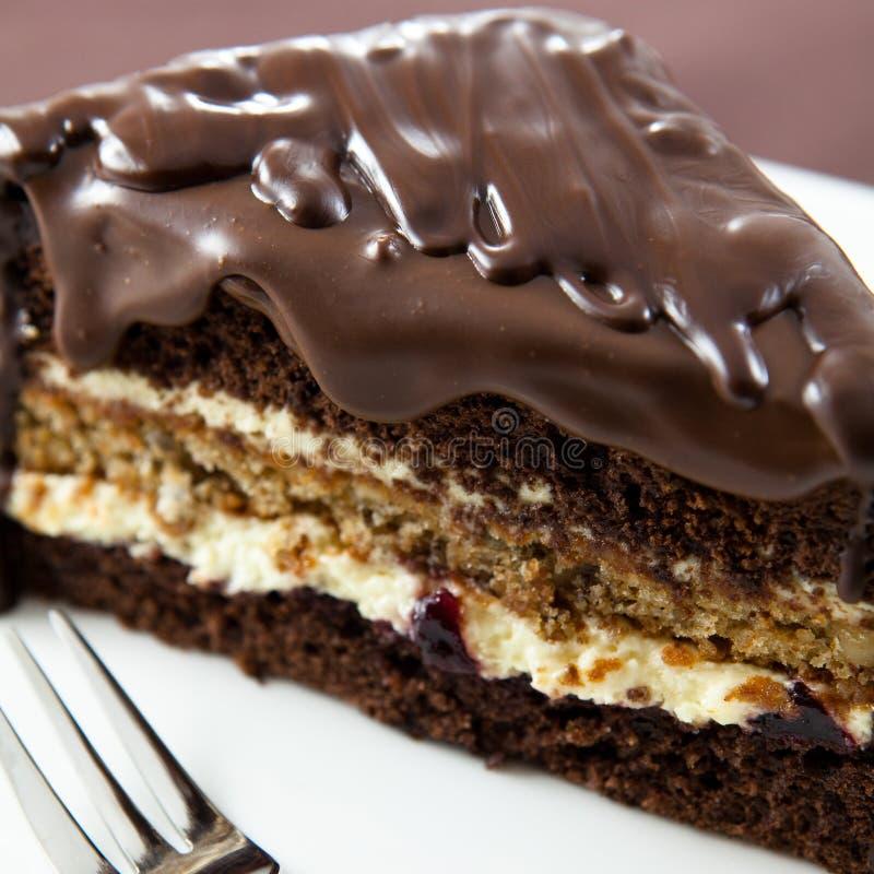 λούστρο σοκολάτας κέικ στοκ εικόνες