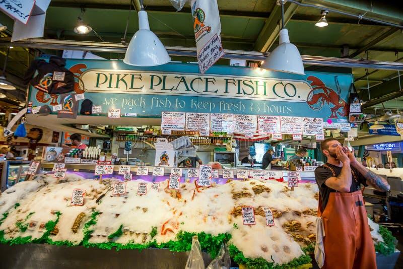 Λούτσοι Place Fish Company στοκ εικόνα