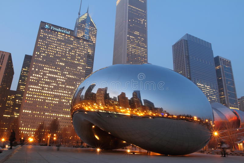 λυκόφως του Σικάγου φα& στοκ φωτογραφία με δικαίωμα ελεύθερης χρήσης