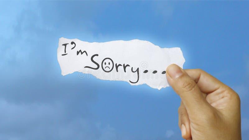 Λυπάμαι στοκ φωτογραφία