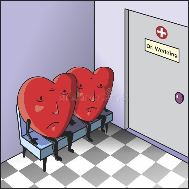 Λυπημένες καρδιές διανυσματική απεικόνιση