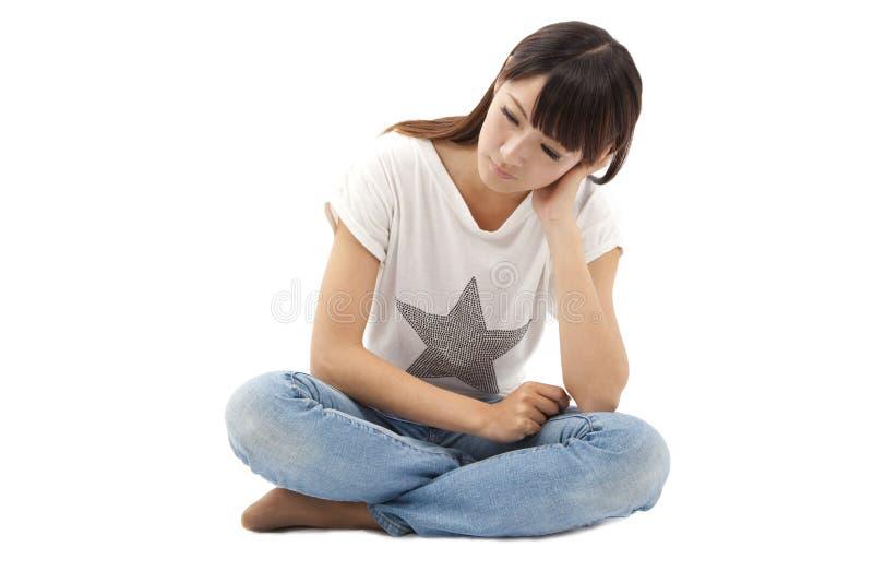 λυπημένες νεολαίες γυναικών κατάθλιψης στοκ φωτογραφίες