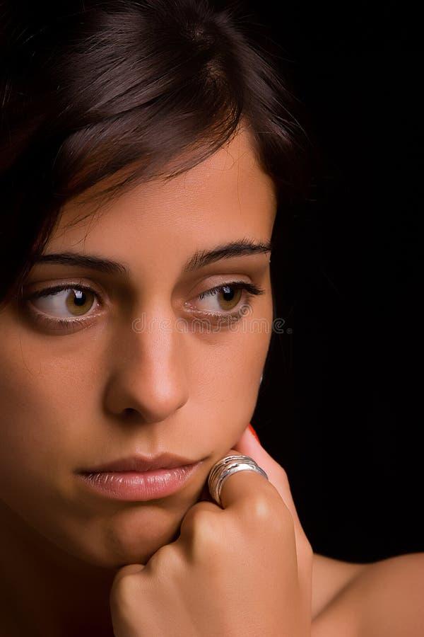 λυπημένες νεολαίες γυν& στοκ φωτογραφίες