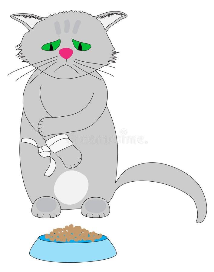 Λυπημένη γάτα στοκ φωτογραφία