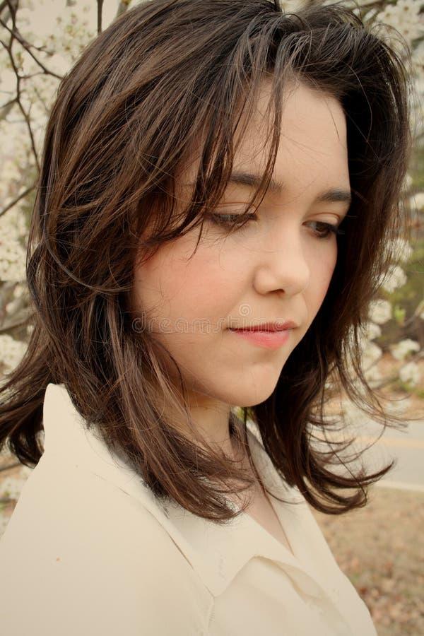 λυπημένος έφηβος κοριτσιών ομορφιάς στοκ εικόνες