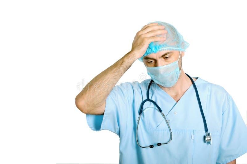 Λυπημένος γιατρός στοκ εικόνα