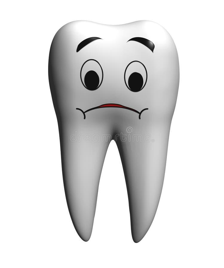 λυπημένο δόντι απεικόνιση αποθεμάτων