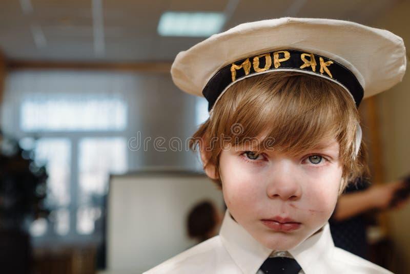 Λυπημένο καυκάσιο μικρό παιδί στοκ φωτογραφίες με δικαίωμα ελεύθερης χρήσης