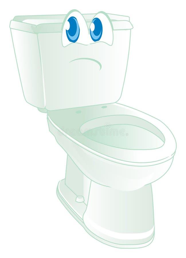 Λυπημένο πρόσωπο WC διανυσματική απεικόνιση