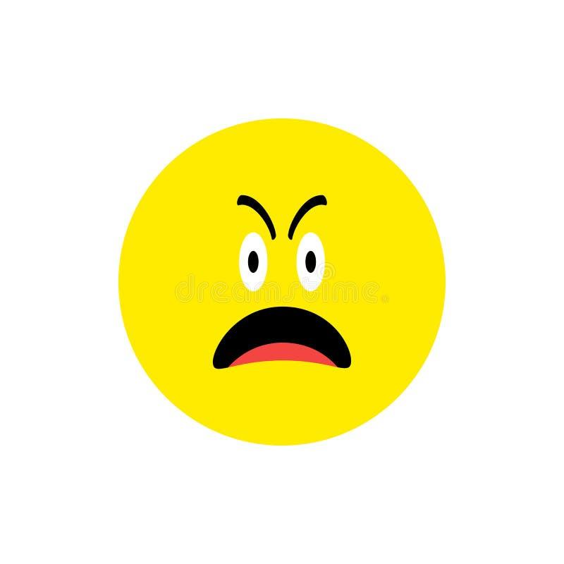 Λυπημένο φωνάζοντας επίπεδο ύφος εικονιδίων Emoji προσώπου Χαριτωμένο Emoticon γύρω από το σύμβολο Λυπηθείτε για, πληγωμένο πρόσω ελεύθερη απεικόνιση δικαιώματος
