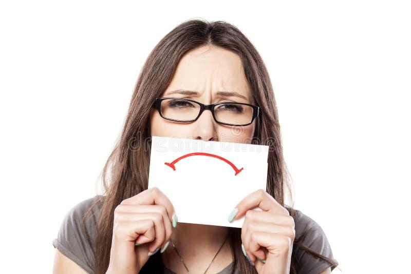 Λυπημένο χαμόγελο στοκ φωτογραφία με δικαίωμα ελεύθερης χρήσης