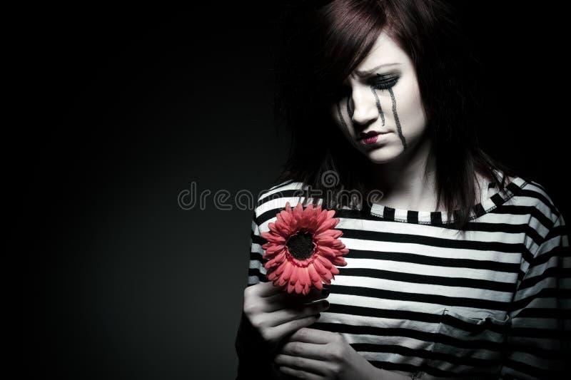 Λυπημένο mime στοκ εικόνα