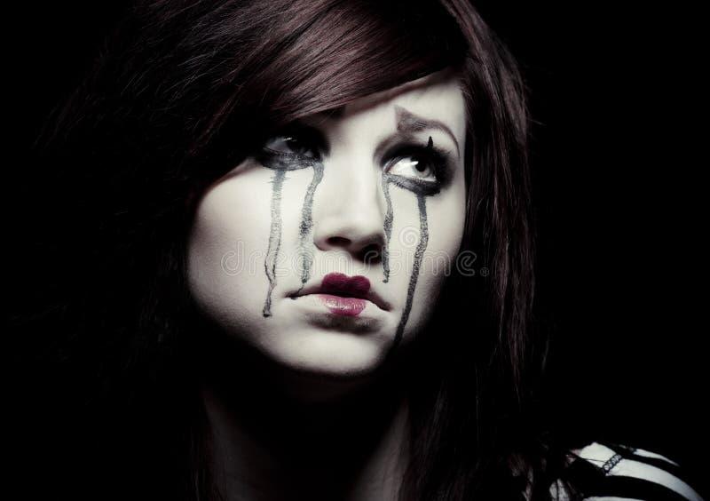 Λυπημένο mime στοκ εικόνες