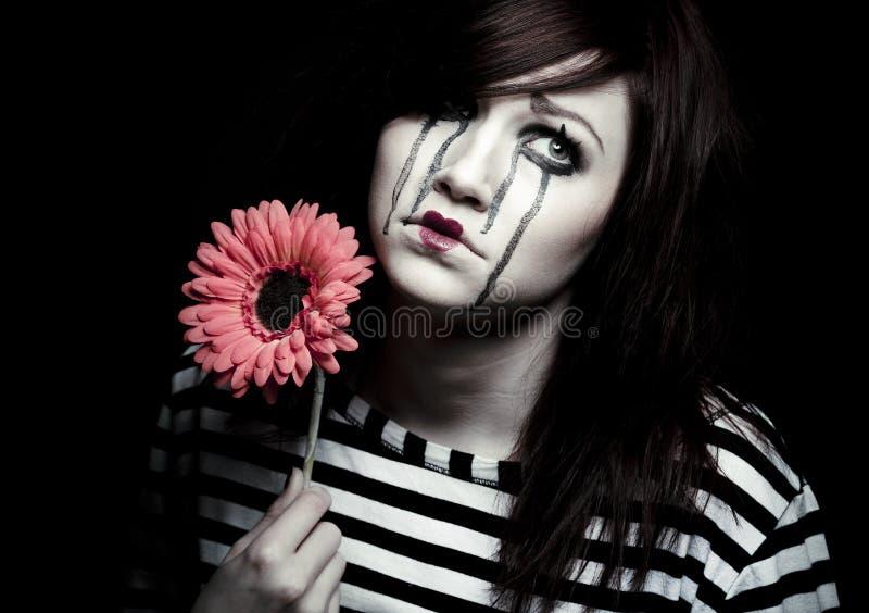 Λυπημένο mime στοκ φωτογραφίες με δικαίωμα ελεύθερης χρήσης