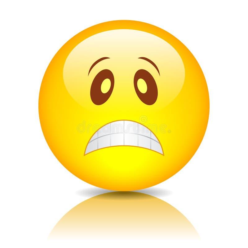 Λυπημένο smiley προσώπου ελεύθερη απεικόνιση δικαιώματος