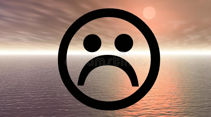 λυπημένο smiley απεικόνιση αποθεμάτων