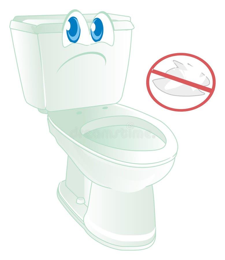 Λυπημένο WC και κόκκινη απαγόρευση ελεύθερη απεικόνιση δικαιώματος