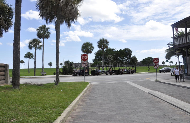 ΛΦ του ST Augustine, στις 8 Αυγούστου: Άποψη οδών από το ST Augustine στη Φλώριδα στοκ εικόνα με δικαίωμα ελεύθερης χρήσης