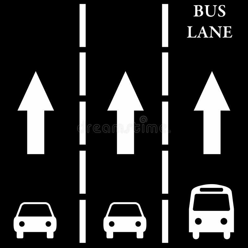 λωρίδα λεωφορείου διανυσματική απεικόνιση