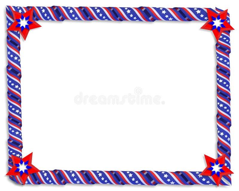 λωρίδες αστεριών κορδελλών συνόρων ελεύθερη απεικόνιση δικαιώματος