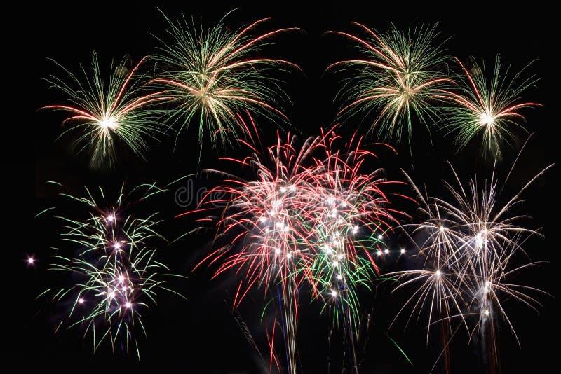 λωρίδες αστεριών πυροτ&epsilo στοκ φωτογραφία με δικαίωμα ελεύθερης χρήσης