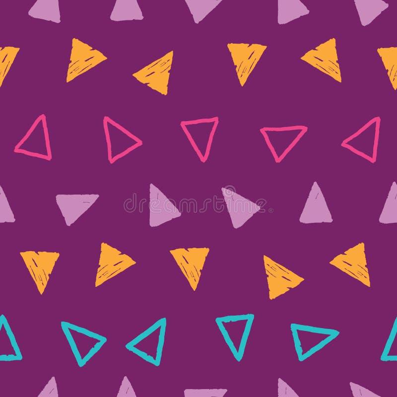Λωρίδες των τριγώνων grunge στο σχέδιο επανάληψης ελεύθερη απεικόνιση δικαιώματος