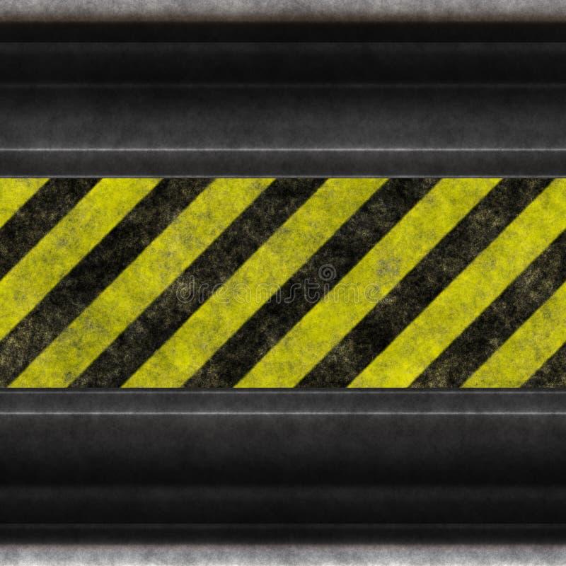 λωρίδες χάλυβα κινδύνου διανυσματική απεικόνιση