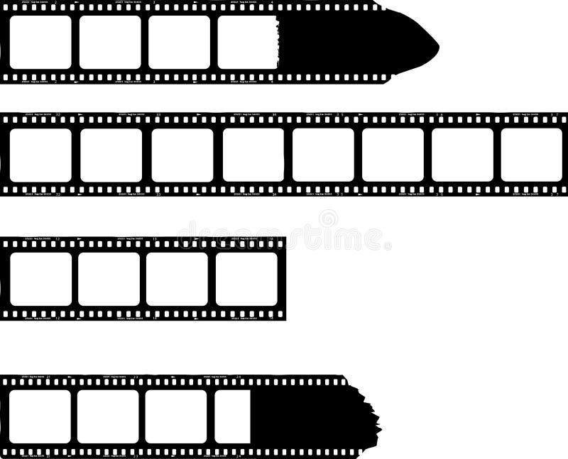 Λωρίδες ταινιών με τα πλαίσια φωτογραφιών ελεύθερη απεικόνιση δικαιώματος