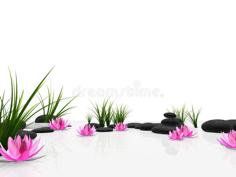 λωτός κήπων διανυσματική απεικόνιση