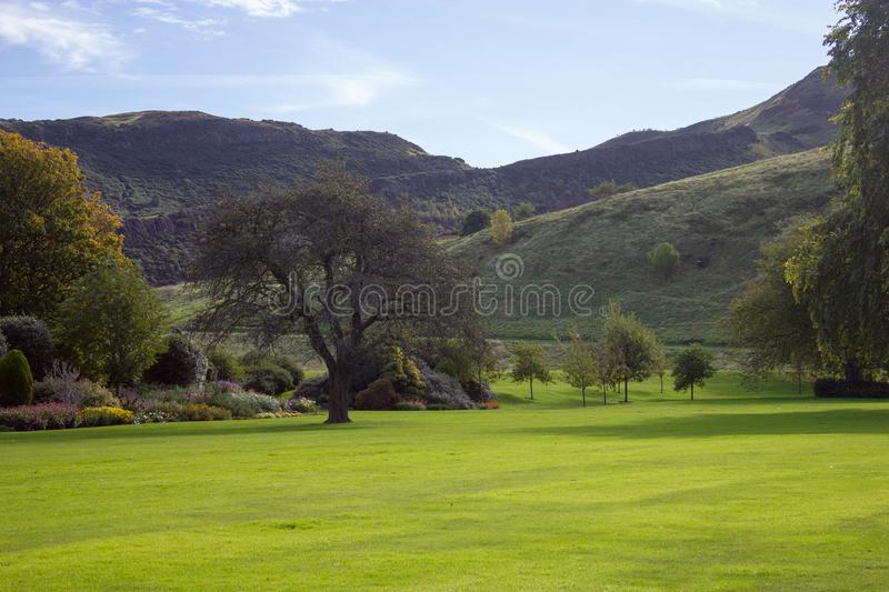 Λόγοι Holyrood παλάτι-Εδιμβούργο, Σκωτία στοκ εικόνα με δικαίωμα ελεύθερης χρήσης