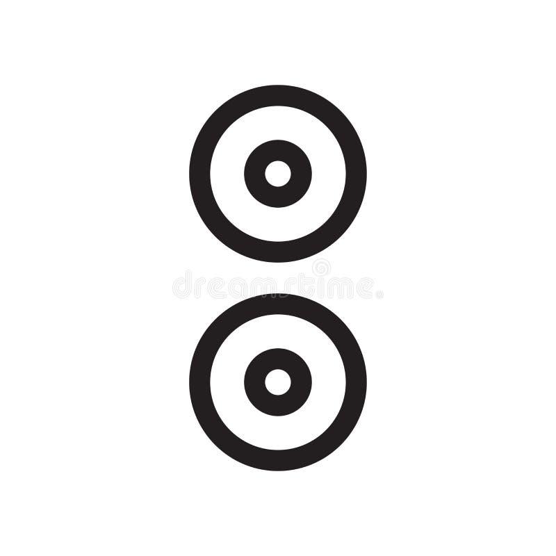 Λόγου συμβόλων σημάδι και σύμβολο εικονιδίων διανυσματικό που απομονώνονται στο άσπρο υπόβαθρο, έννοια λογότυπων συμβόλων λόγου απεικόνιση αποθεμάτων